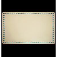 Krem Ahşap Dikdörtgen Sepet Tabanı 30cm