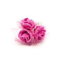 Tüllü Fuşya Yapay Çiçek