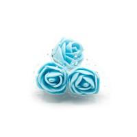 Tüllü Mavi Yapay Çiçek