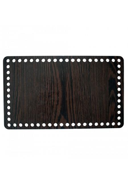 Darkbrown Wooden Rectangle Basket Bottom 25cm