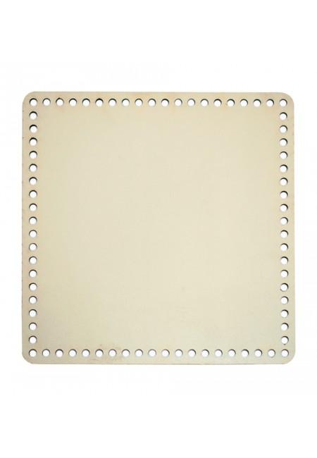 Cream Wooden Square Basket Bottom 25cm