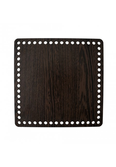 Darkbrown Wooden Square Basket Bottom 20cm