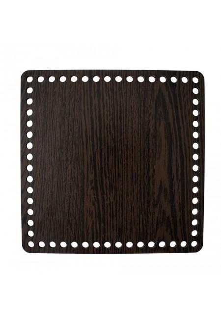 Darkbrown Wooden Square Basket Bottom 25cm