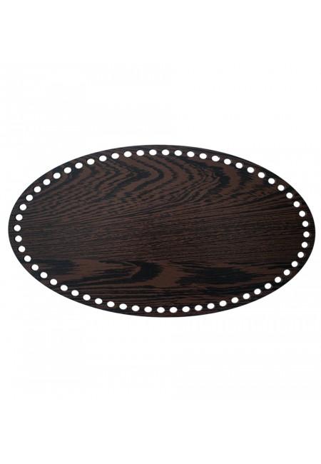 Darkbrown Wooden Elipse Basket Bottom 25cm