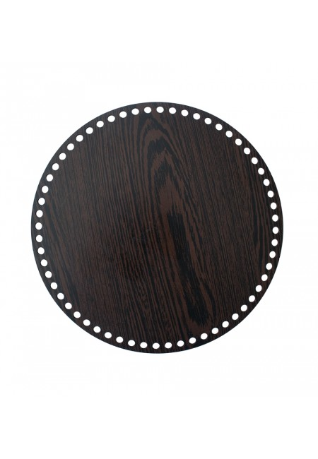Darkbrown Wooden Round Basket Bottom 20cm