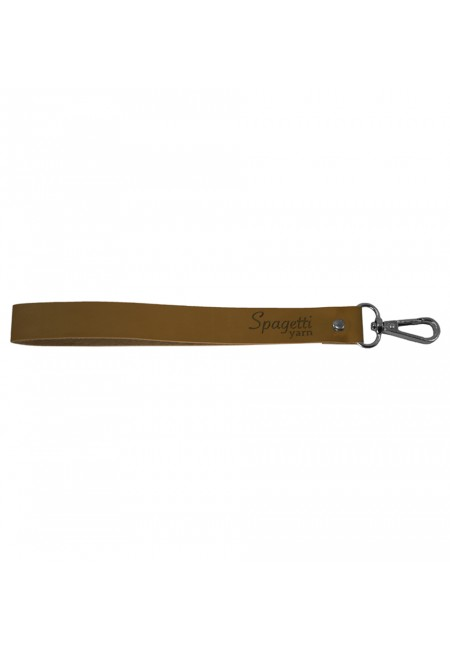 Tan Bag Handle With Nickel End