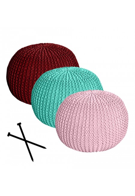 Pouf with Knit