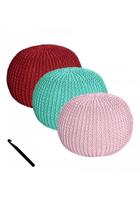 Pouf with Crochet