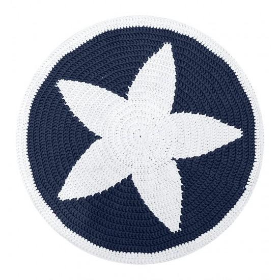 Yıldız Kilim Kiti Lacivert - Beyaz