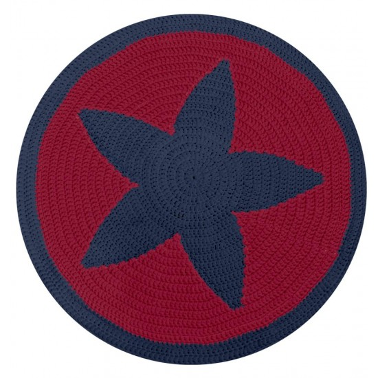 Yıldız Kilim Kiti Lacivert - Kırmızı